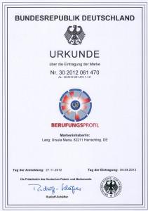 Urkunde Marke BPD
