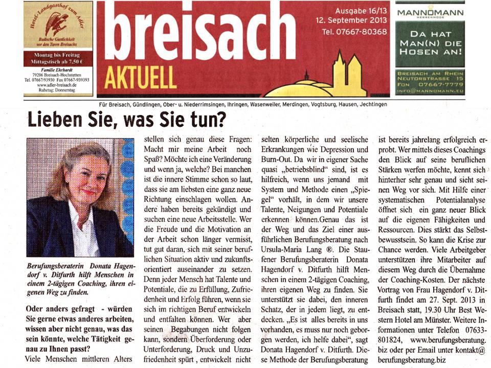 Breisacher Zeitung 09.2013