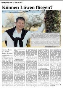 Zeitungartikel Februar